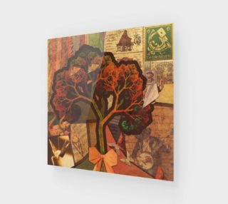 Aperçu de Art Print of a Beautiful Fractal Collage of an Endless Origami Autumn