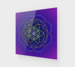 Seed of Life & Metatron's cube mandala preview