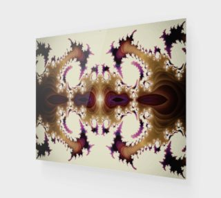 Vintage Spiral Claw Fractal Wall Art preview