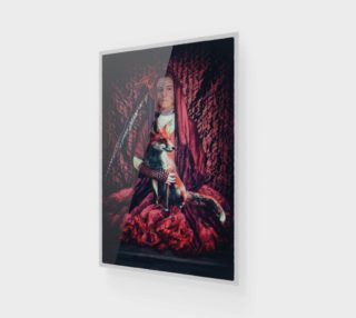 Red with Fox Wall Art preview