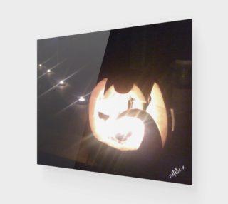 Aperçu de natalie x . blurred halloween . wood print