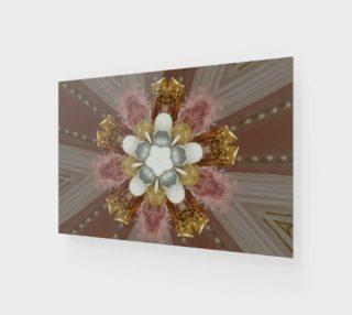 Aperçu de Elegant Antique Pink Shiny Gold Silver White Flower