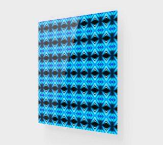 Aperçu de Blue Abstract Mirror Pattern