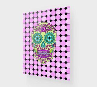 Aperçu de Sugar Skull Square Art Print