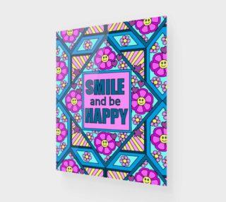 Aperçu de Smile and Be Happy Art Print 16 by 20