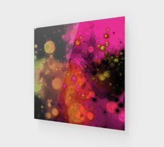 Aperçu de Unique Abstract Art - Pink, Orange, Black - Funky