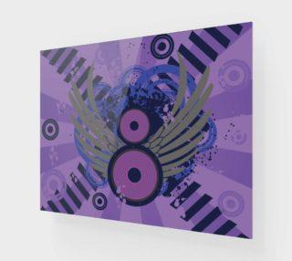 Aperçu de Retro Abstract - Shades of Purple and Black