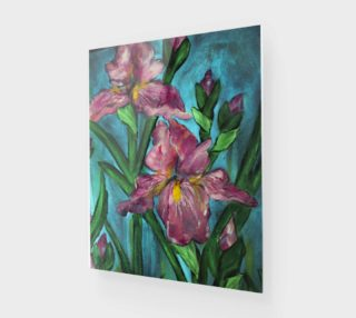 Floral Pink Irises 16 x 20 preview