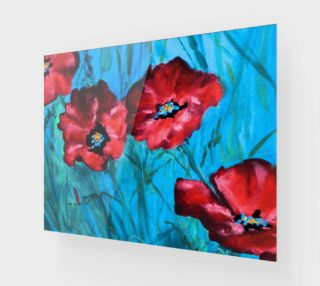 Red Poppies Detail 14 x 11 preview