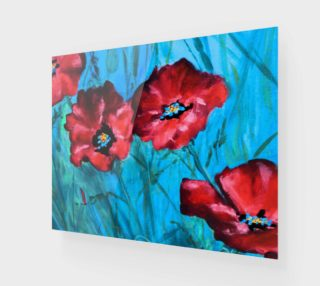 Red Poppies Detail 20 x 16 preview