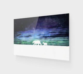 Aurora borealis and polar bears (white version) preview