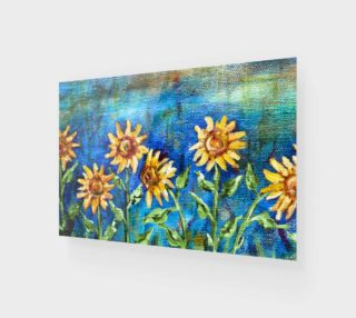 Sunflowers Denim Wall Art preview