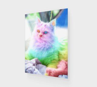 Unicorn Rainbow Cat Wall Art preview