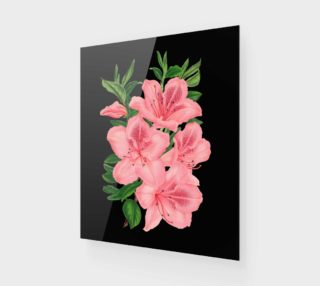 Victorian Pink Flowers on Black preview