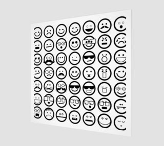 Black & White Emoji Faces preview