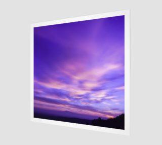 Purple Sunrise Canvas Wall Art preview