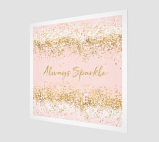 Blush Pink White Gold Confetti Always Sparkle preview