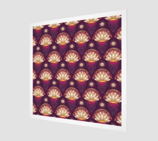 Purple and Beige Scallops Wall Art poster art print canvas wood print preview