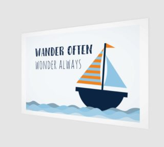 Wander often, wonder always - wall art preview