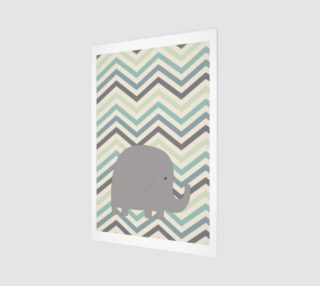 Elephant and chevron - wall art preview