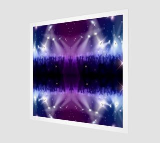 Purple and Blue Burst Canvas Wall Art preview