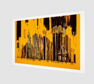 toile Code barre 3 x 2 Jaune Monteal la tour Melannie Bernard preview