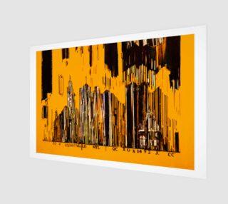 toile 3 x 2 numero 3 Code barre en jaune preview