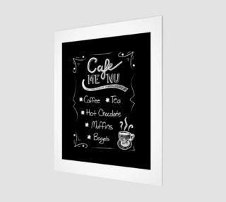 "Cafe Menu Canvas Print 11""x14"" preview"