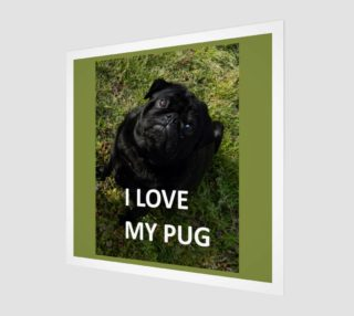 Black Pug Love with Picture Wall Art preview