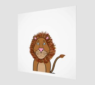 Leo the Lion Wood Print preview