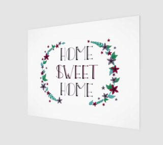 "Aperçu de Home Sweet Home Canvas Print - 20""x16"""