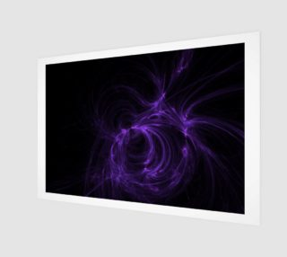 purple fractal wall art preview