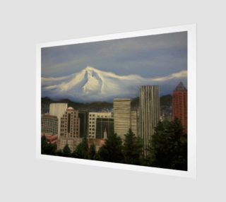 Mount Hood over Portland preview