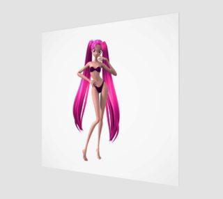 purple hair anime girl preview