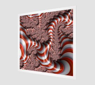 Candy Cane Fractal Wall Art Wood Print preview
