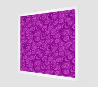 purple swirl wall art preview