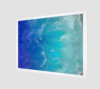 Aperçu de Blue I So Hope Canvas Print Landscape