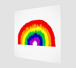 Dripping Rainbow Wall Art preview