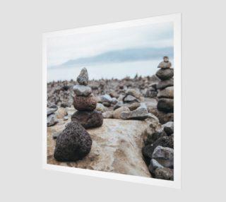 Zen Stones On Beach Wall Art preview
