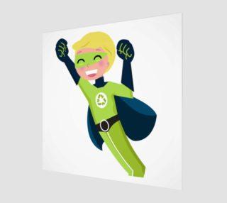 Poster with Superhero boy green bio eco preview