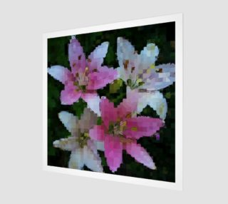 Pink Asiatic Lily Mosaic preview