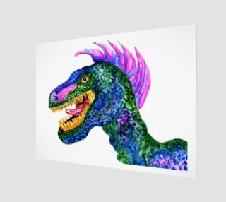 Grunge Velociraptor Art preview