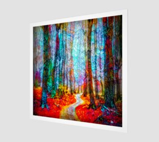 Abstract woods painting preview