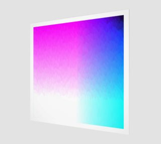 Pink Purple Blue White Ombre Flame  Art Print preview