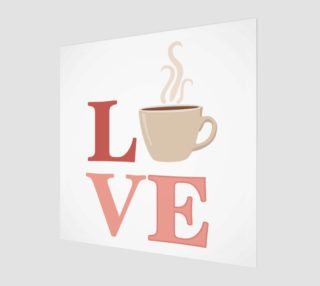Coffee Love Wood Print preview