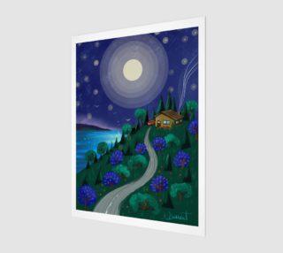 Affiche Le chalet sous la lune preview