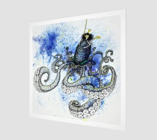"Sea Monster print - largest size 12""x12"" preview"