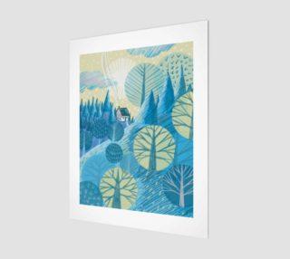 Affiche Le bleu paysage preview