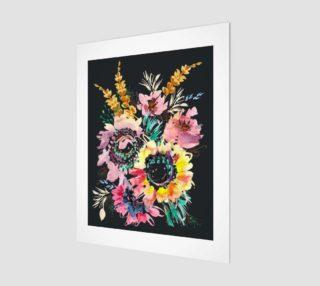 Aperçu de Whimsical Floral Meadow 11x14