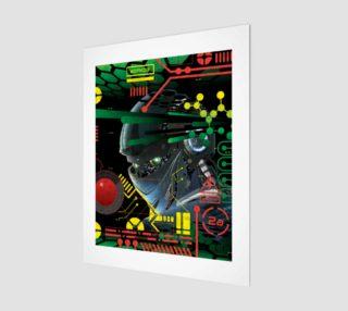 Futuristic Sci-Fi Techno Robot Wall Art preview